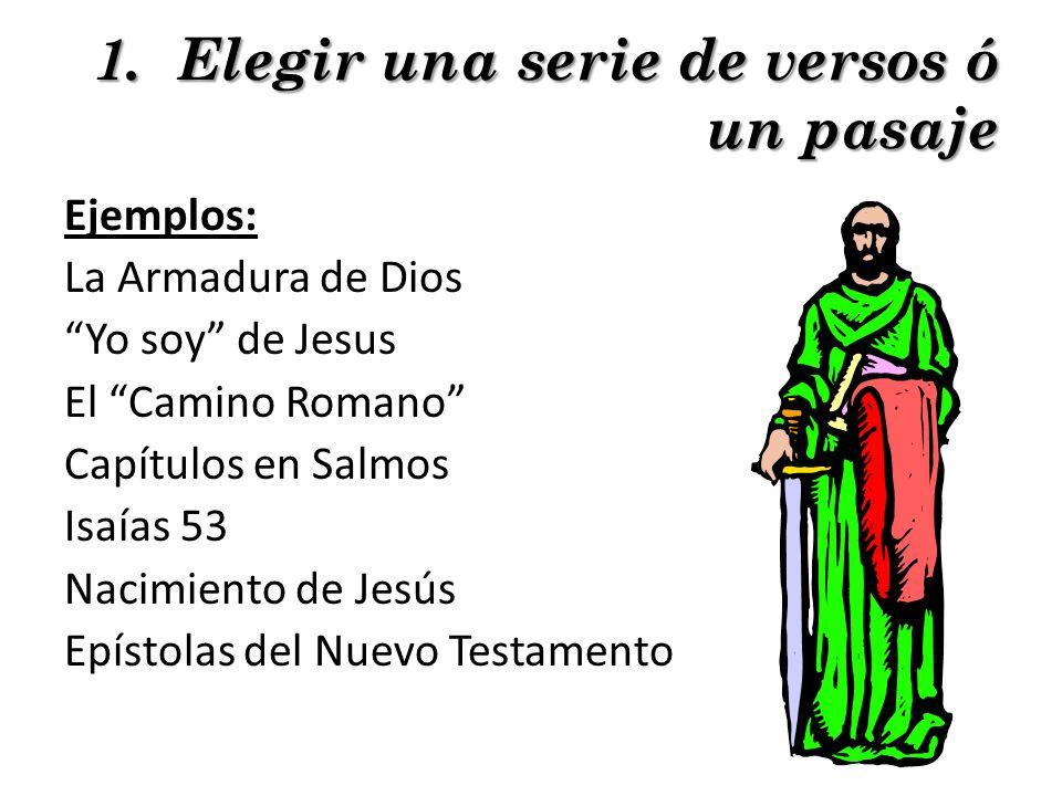 1. Elegir una serie de versos ó un pasaje