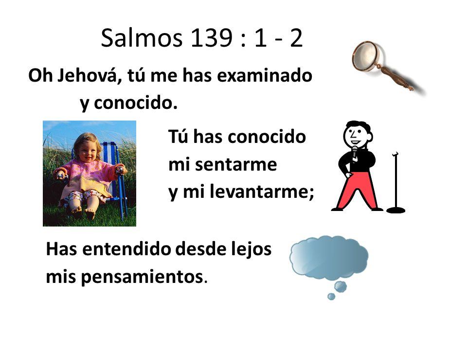 Salmos 139 : 1 - 2