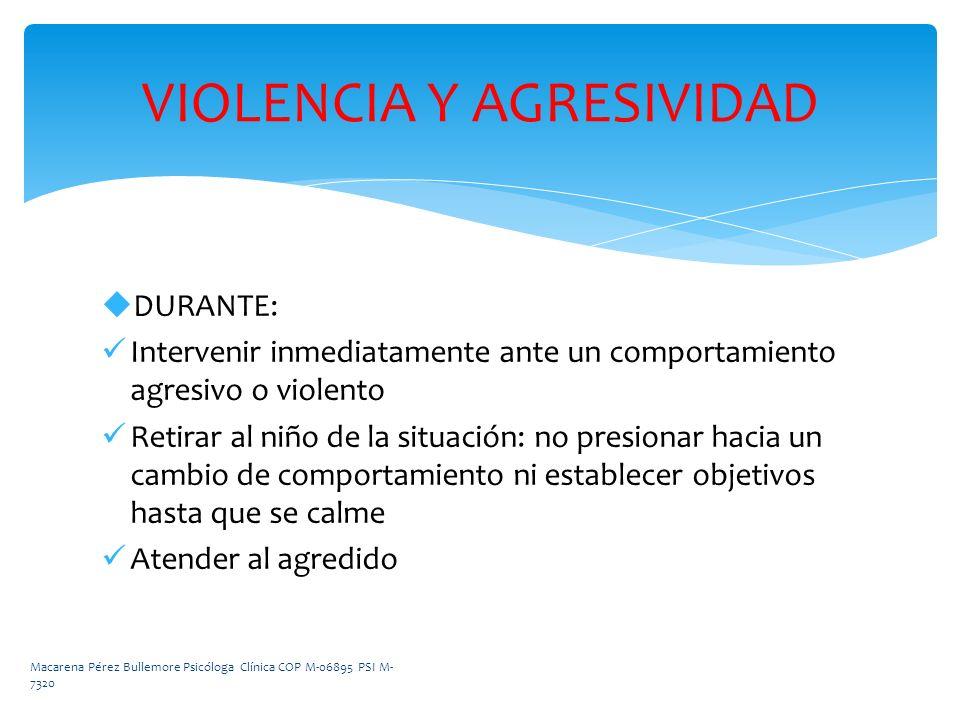 VIOLENCIA Y AGRESIVIDAD