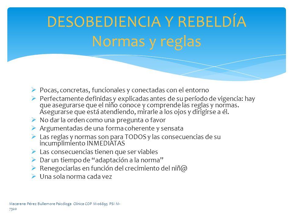 DESOBEDIENCIA Y REBELDÍA Normas y reglas