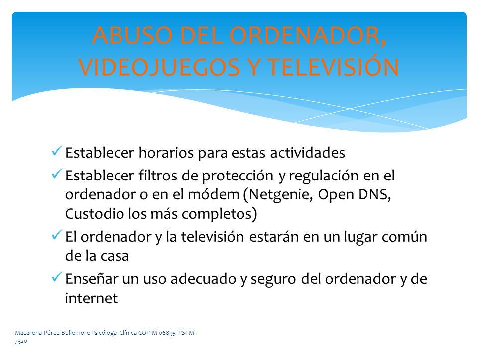 ABUSO DEL ORDENADOR, VIDEOJUEGOS Y TELEVISIÓN