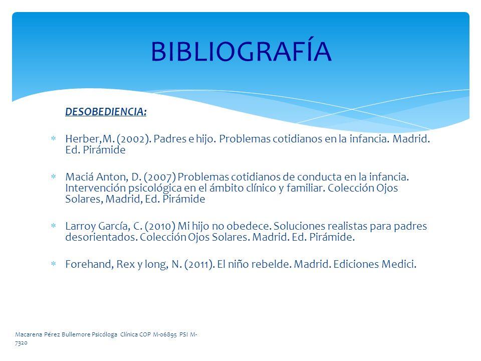BIBLIOGRAFÍA DESOBEDIENCIA: