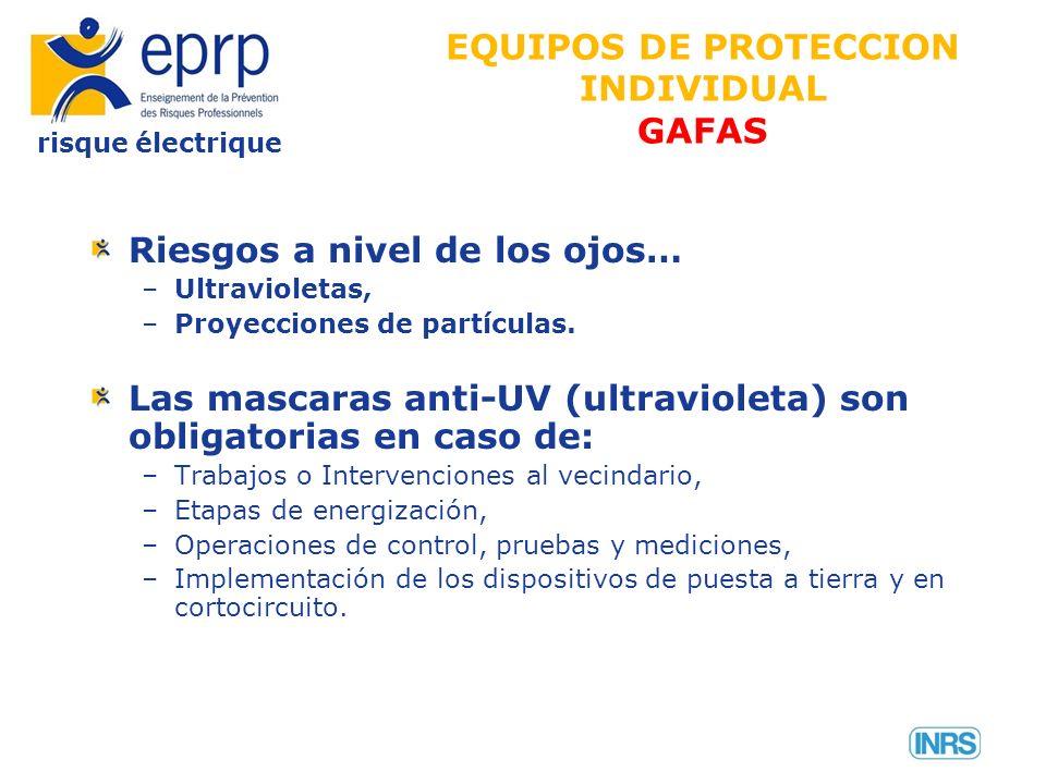 EQUIPOS DE PROTECCION INDIVIDUAL GAFAS