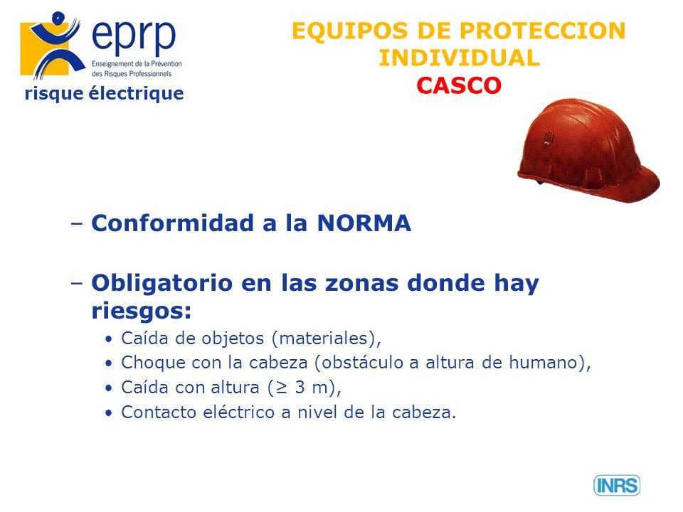 EQUIPOS DE PROTECCION INDIVIDUAL CASCO