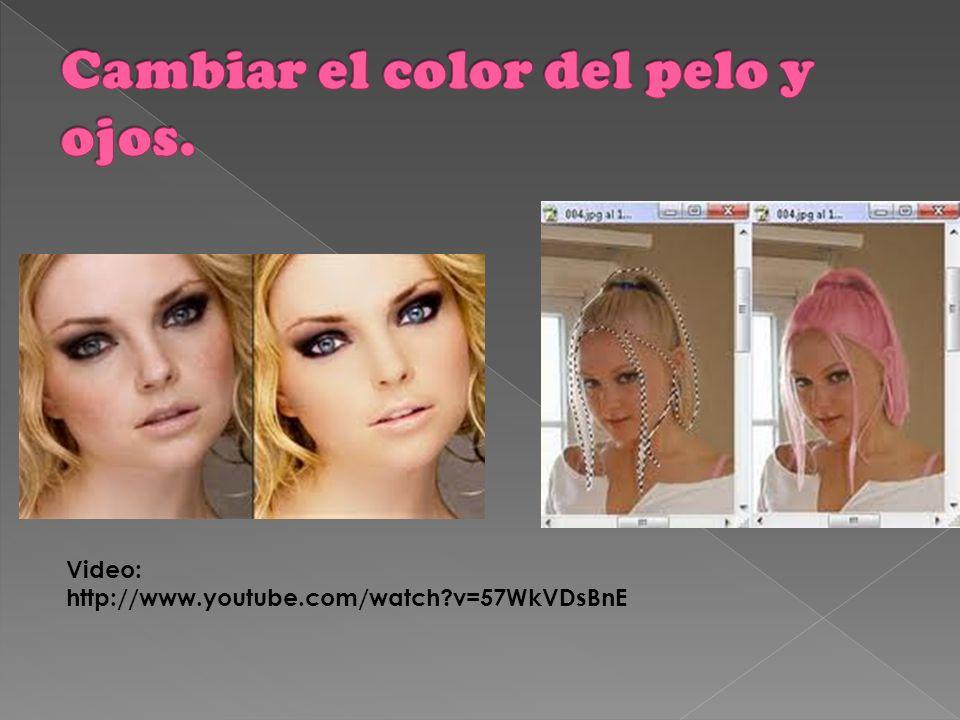 Cambiar el color del pelo y ojos.