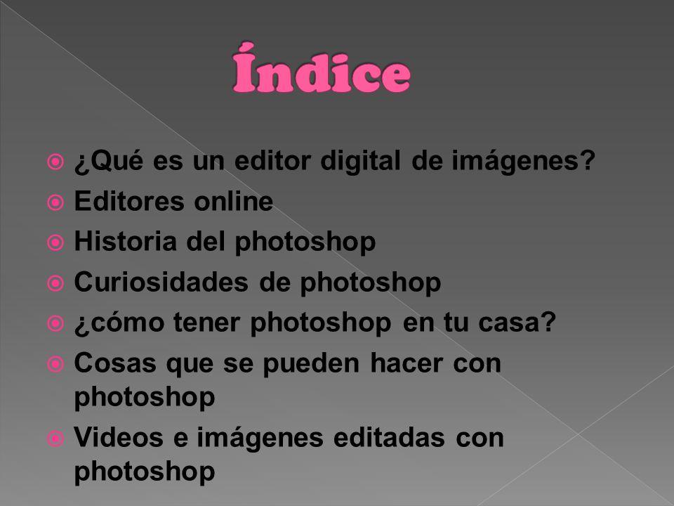 Índice ¿Qué es un editor digital de imágenes Editores online