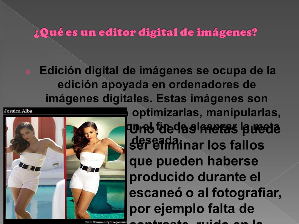 ¿Qué es un editor digital de imágenes