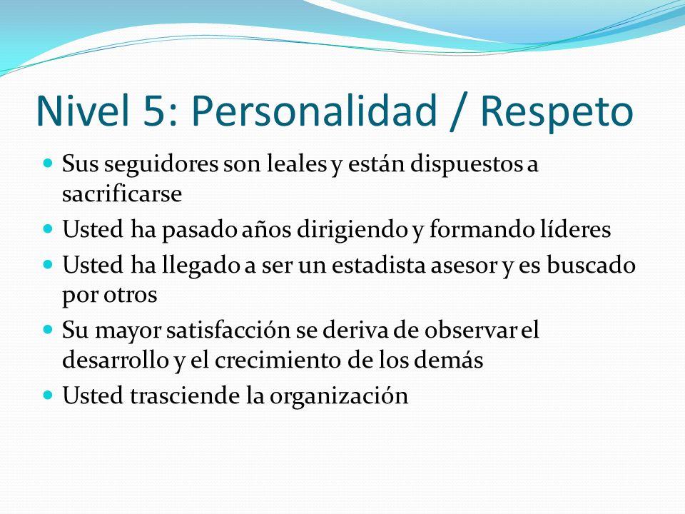 Nivel 5: Personalidad / Respeto
