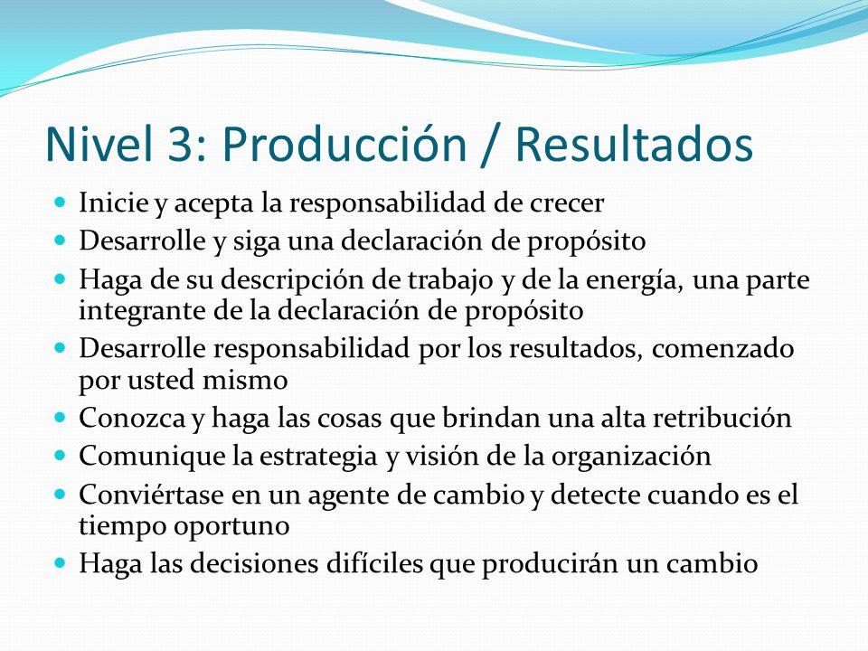 Nivel 3: Producción / Resultados