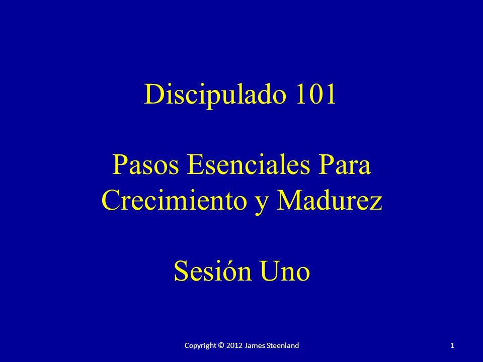 Discipulado 101 Pasos Esenciales Para Crecimiento y Madurez Sesión Uno