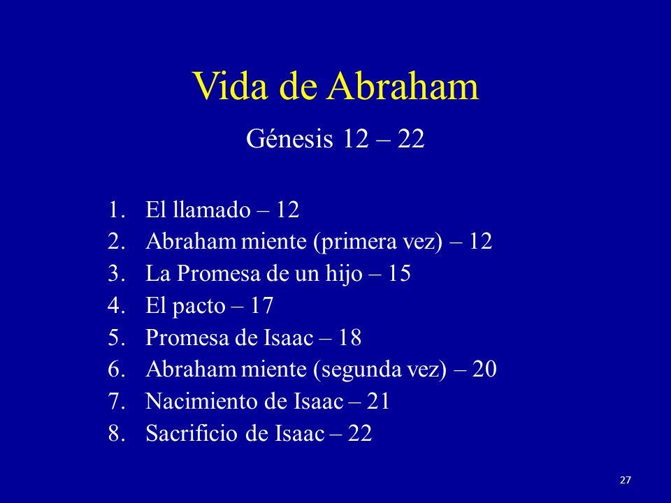 Vida de Abraham Génesis 12 – 22 El llamado – 12
