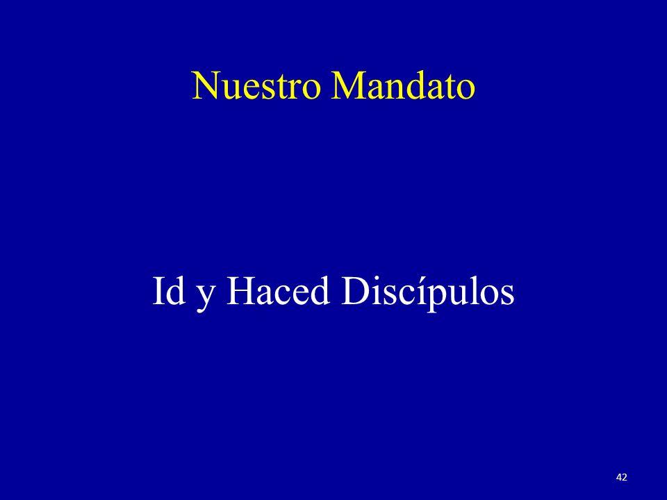 Nuestro Mandato Id y Haced Discípulos