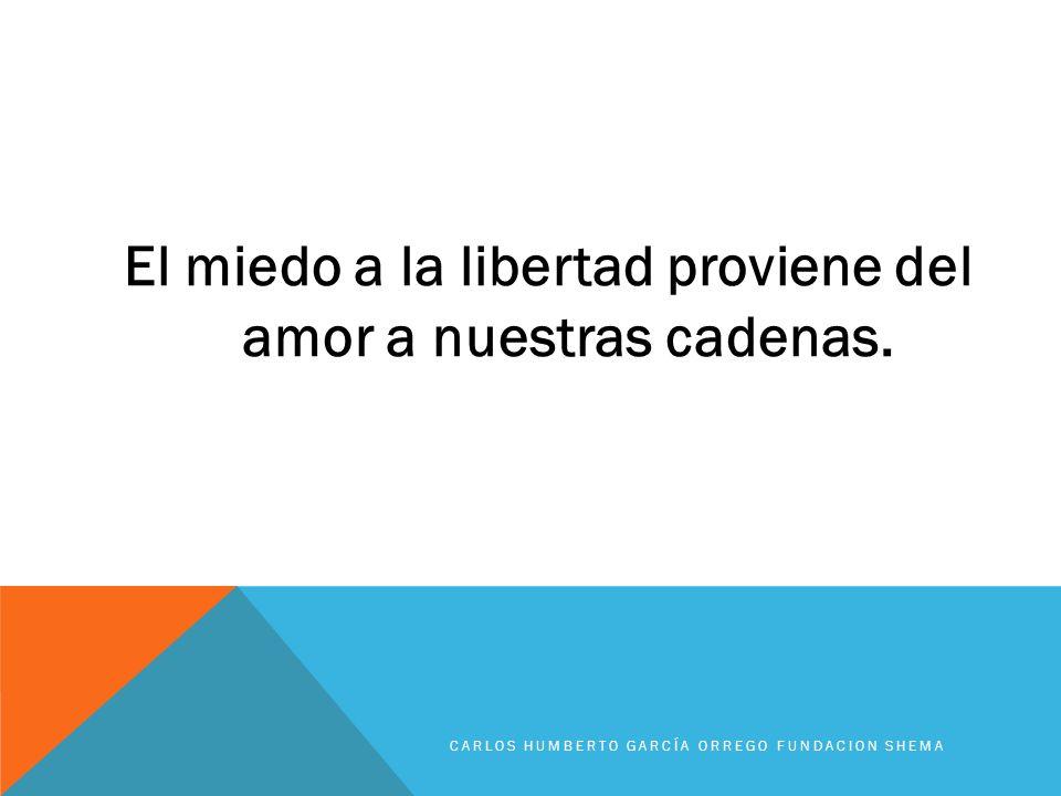 El miedo a la libertad proviene del amor a nuestras cadenas.