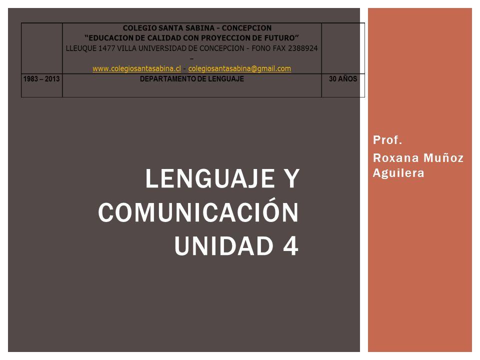 Lenguaje y Comunicación UNIDAD 4