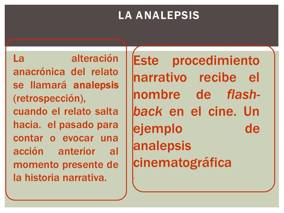 La analepsis