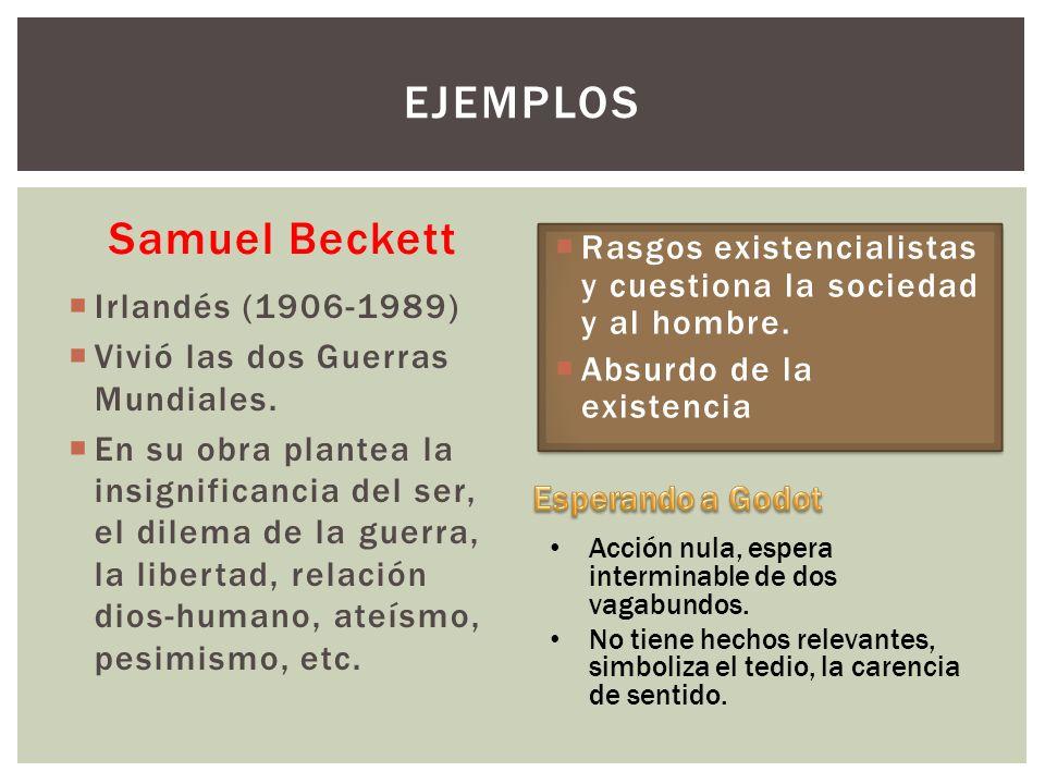 Ejemplos Samuel Beckett Teatro del absurdo