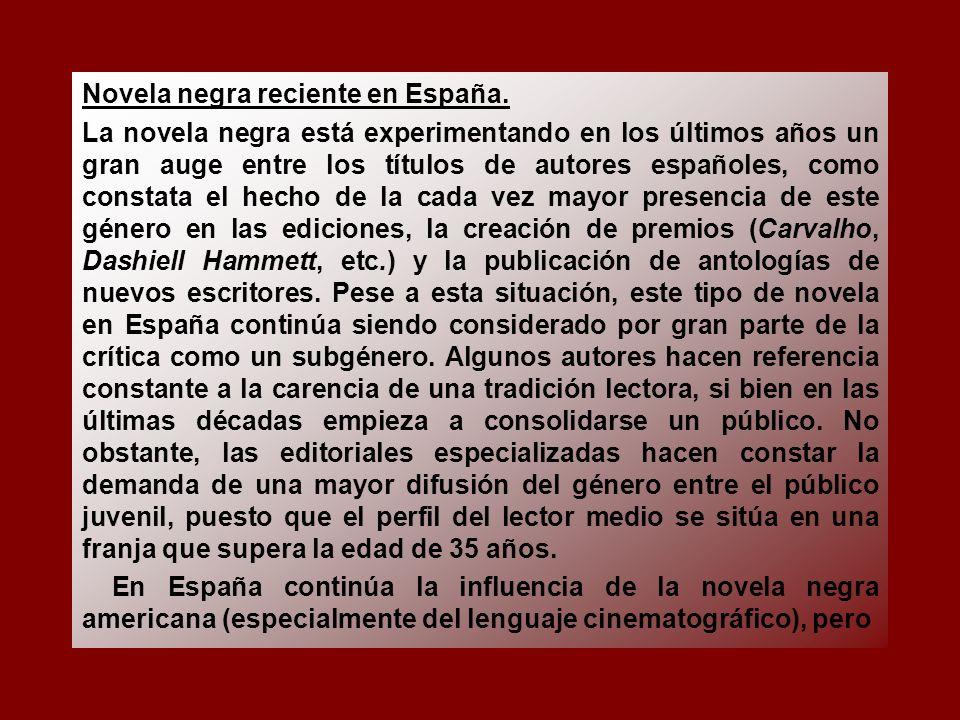 Novela negra reciente en España.