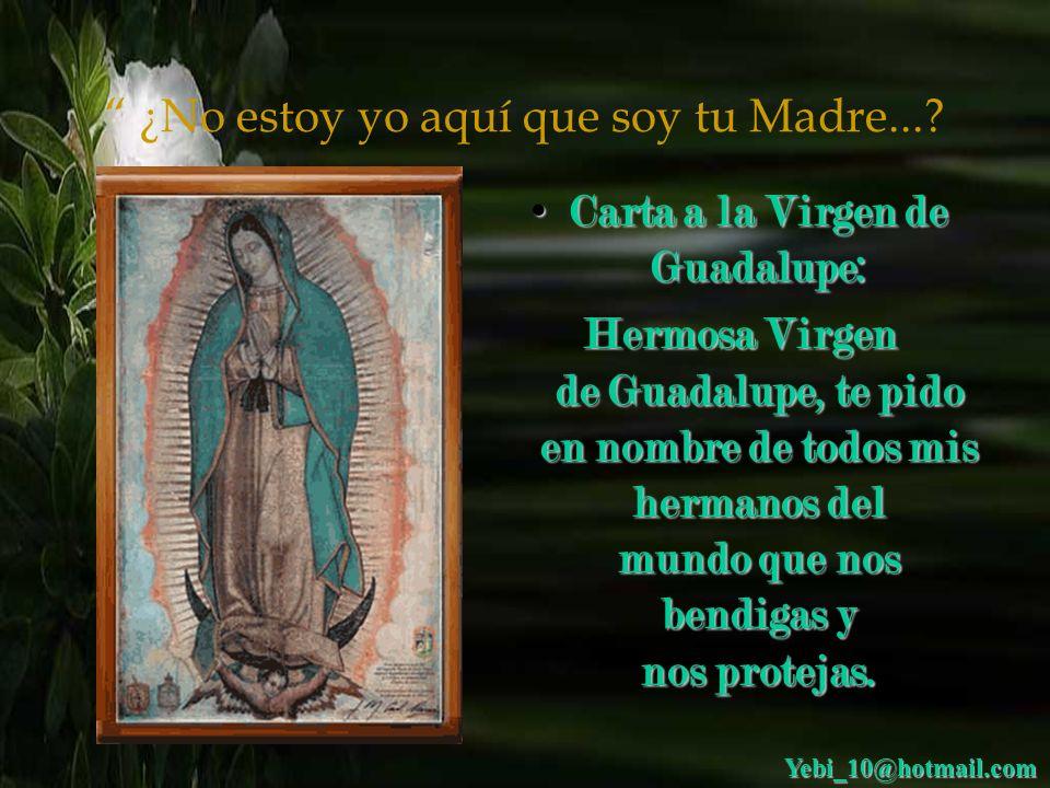 Carta a la Virgen de Guadalupe: