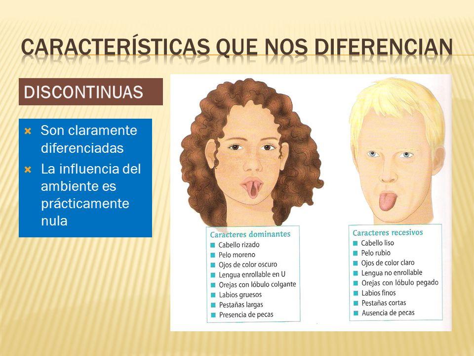 Características que nos diferencian
