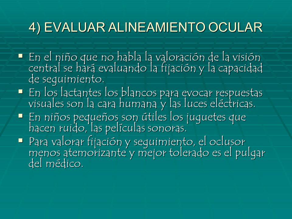 4) EVALUAR ALINEAMIENTO OCULAR
