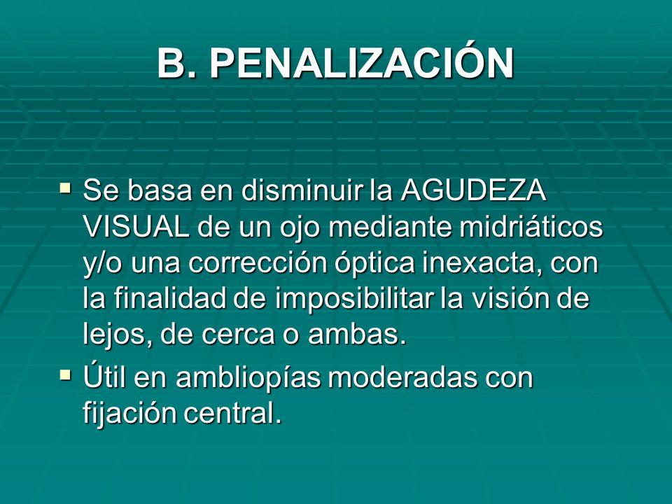 B. PENALIZACIÓN