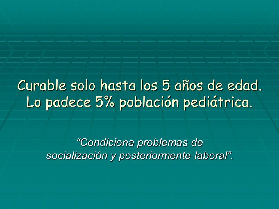 Condiciona problemas de socialización y posteriormente laboral .