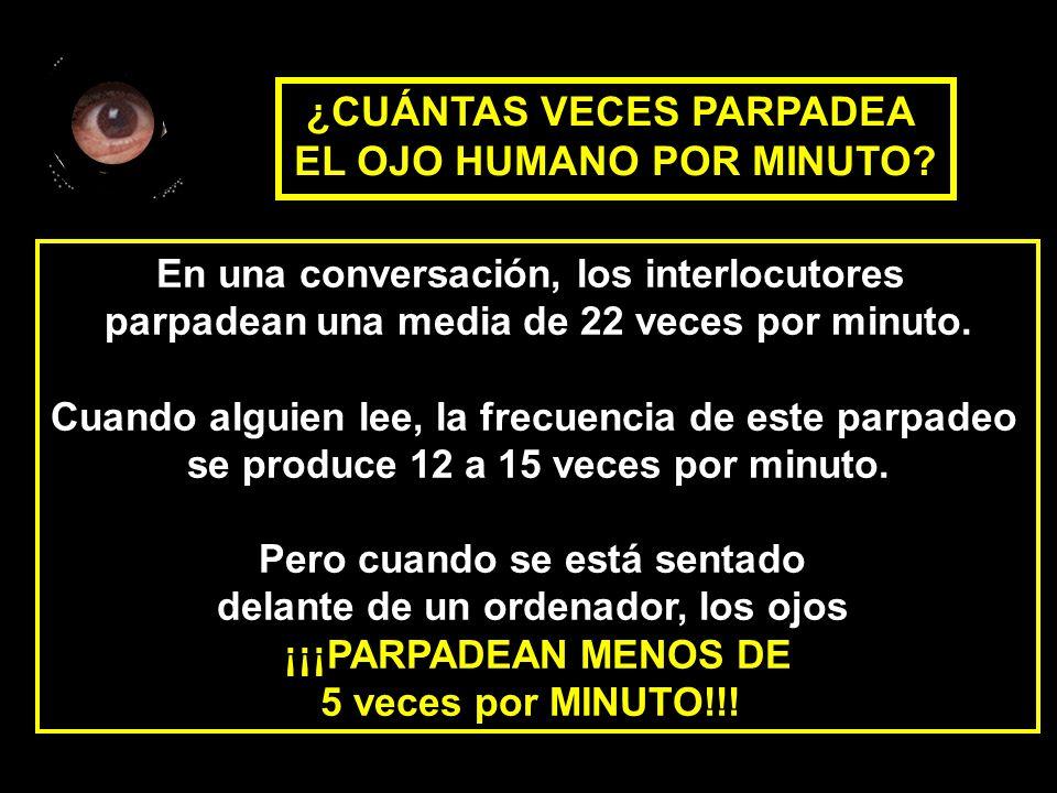 ¿CUÁNTAS VECES PARPADEA EL OJO HUMANO POR MINUTO