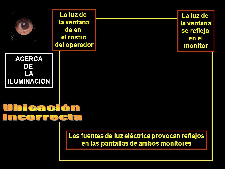 Las fuentes de luz eléctrica provocan reflejos