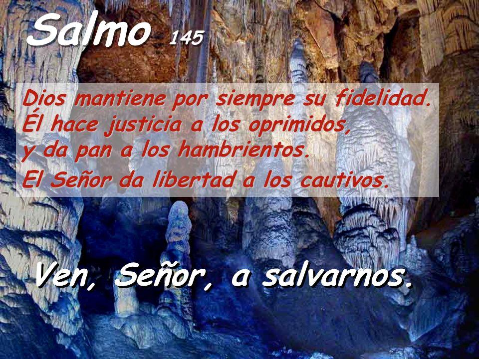 Salmo 145 Ven, Señor, a salvarnos.