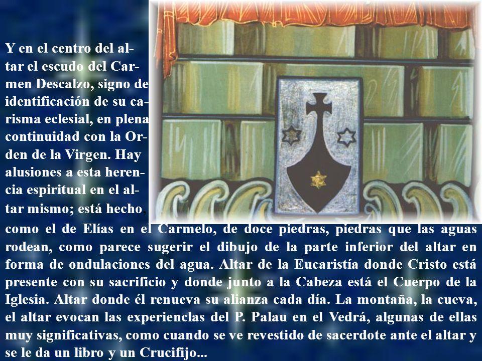 Altar con el escudo