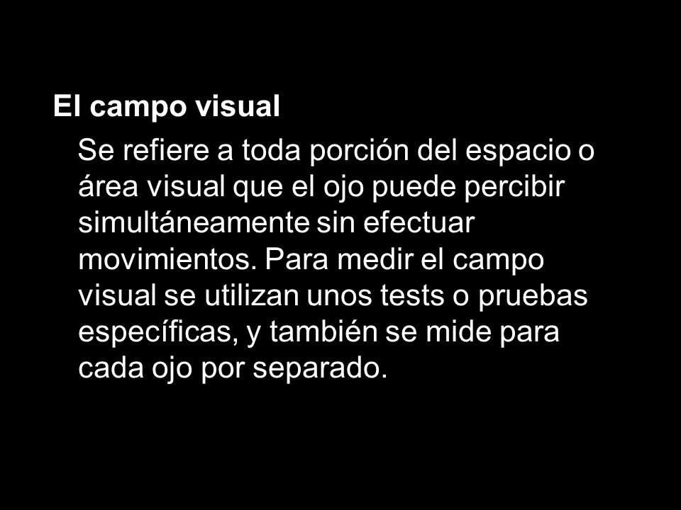 El campo visual