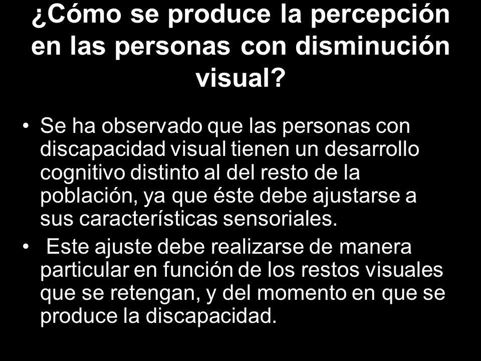 ¿Cómo se produce la percepción en las personas con disminución visual