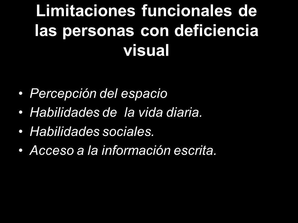 Limitaciones funcionales de las personas con deficiencia visual