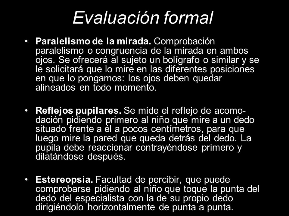 Evaluación formal