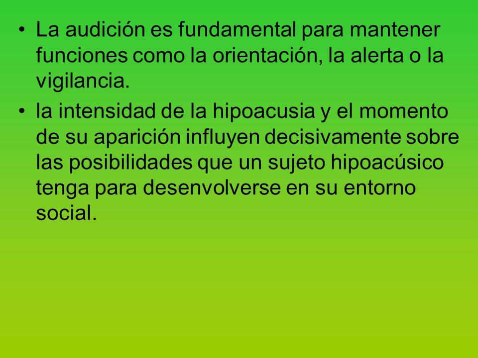 La audición es fundamental para mantener funciones como la orientación, la alerta o la vigilancia.