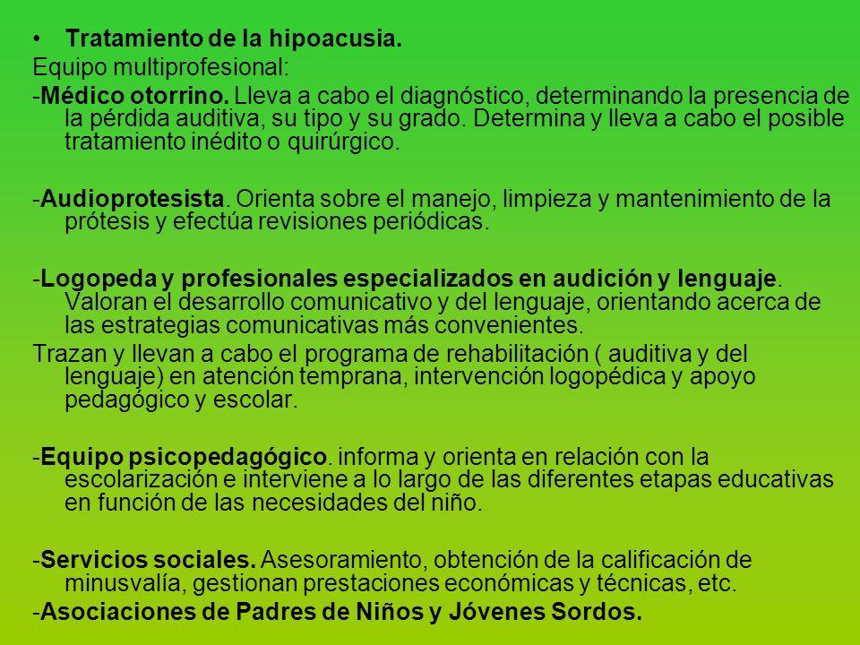 Tratamiento de la hipoacusia.