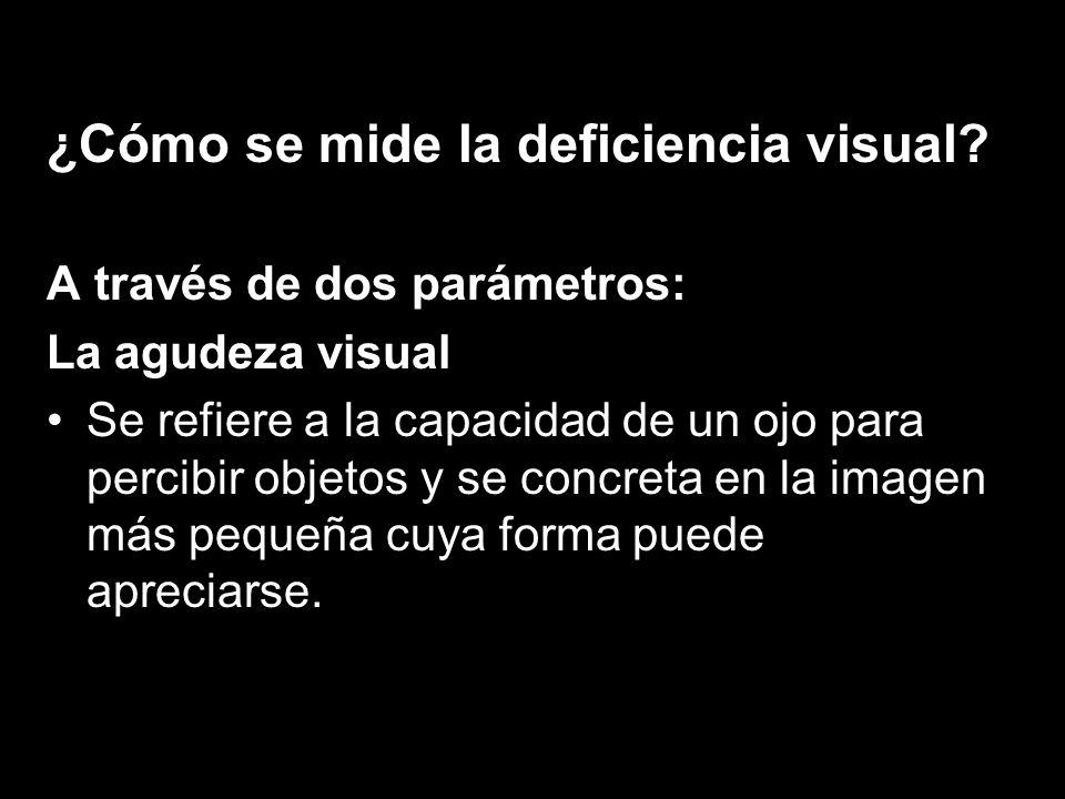 ¿Cómo se mide la deficiencia visual
