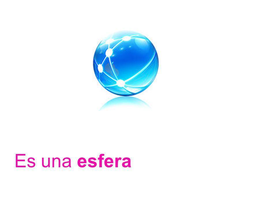 Es una esfera