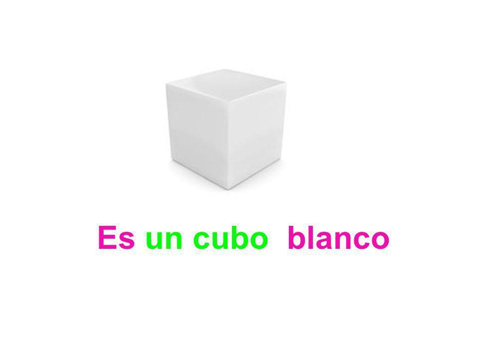 Es un cubo blanco