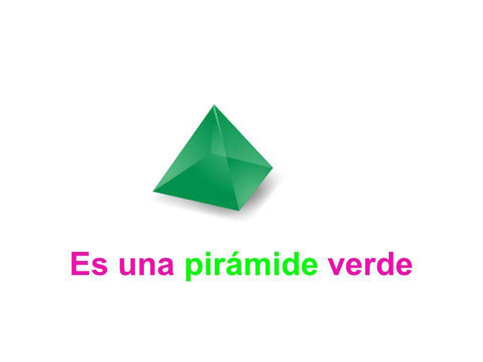 Es una pirámide verde