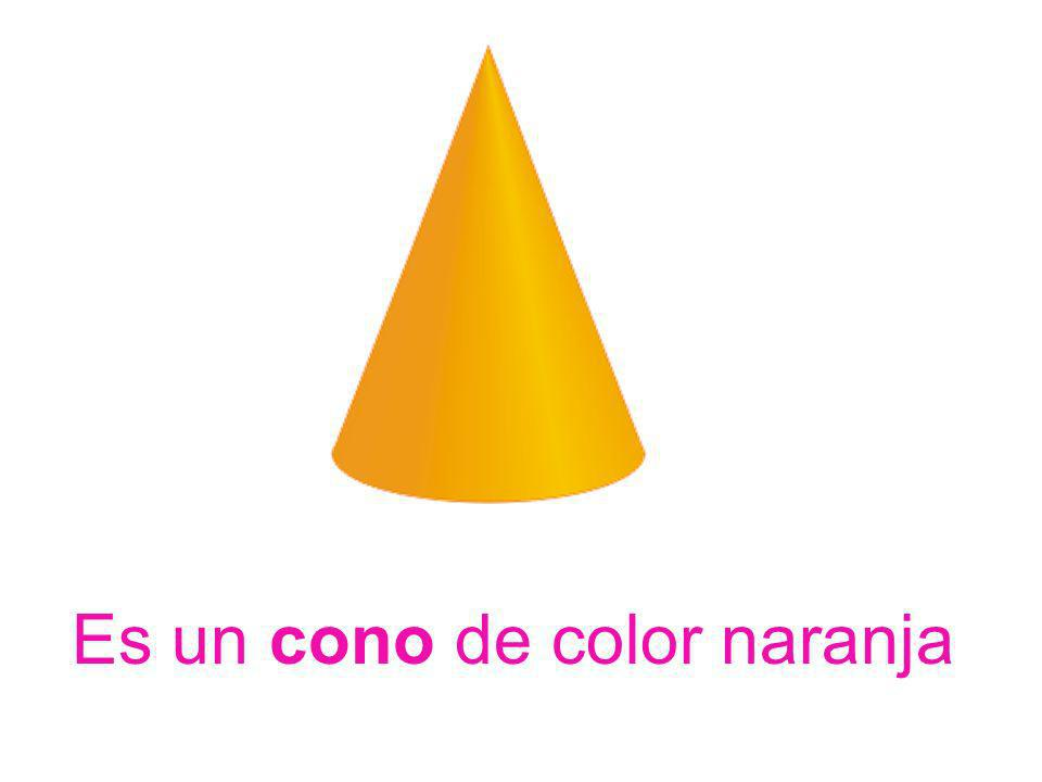 Es un cono de color naranja