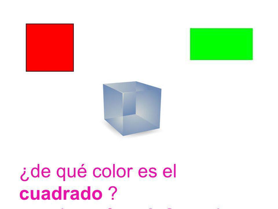 ¿de qué color es el cuadrado