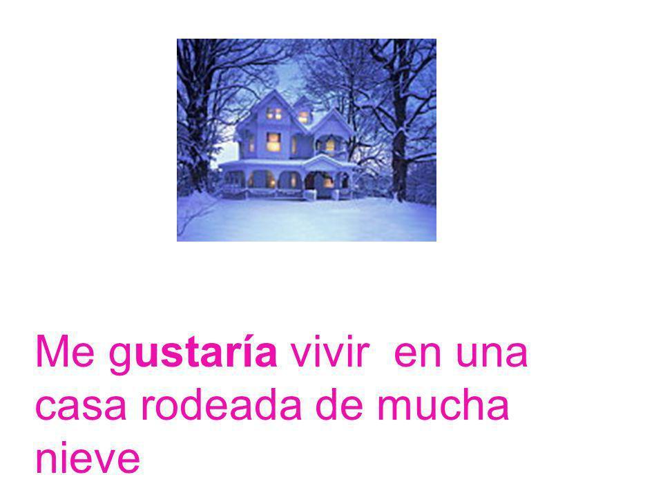 Me gustaría vivir en una casa rodeada de mucha nieve