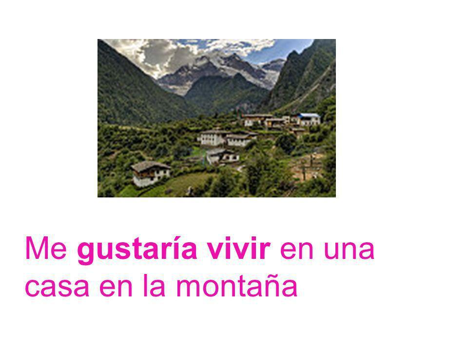 Me gustaría vivir en una casa en la montaña