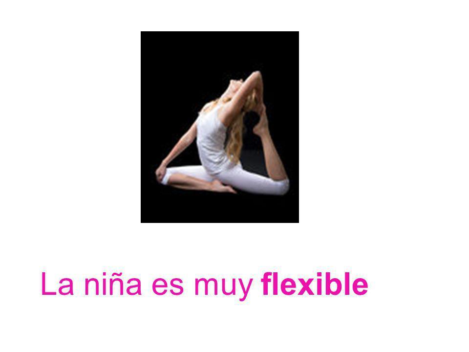 La niña es muy flexible