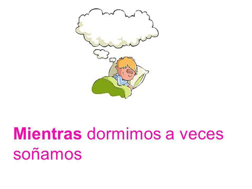Mientras dormimos a veces soñamos