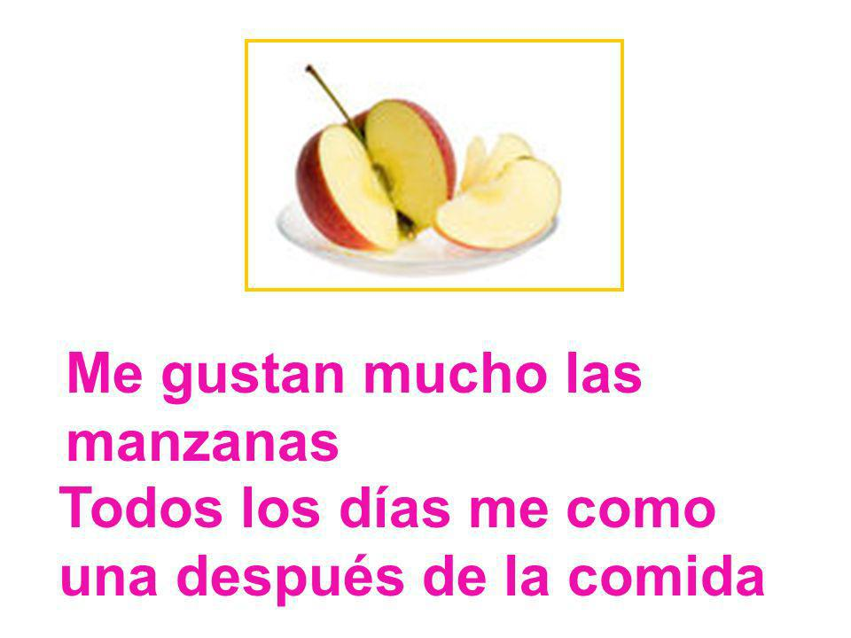 Me gustan mucho las manzanas