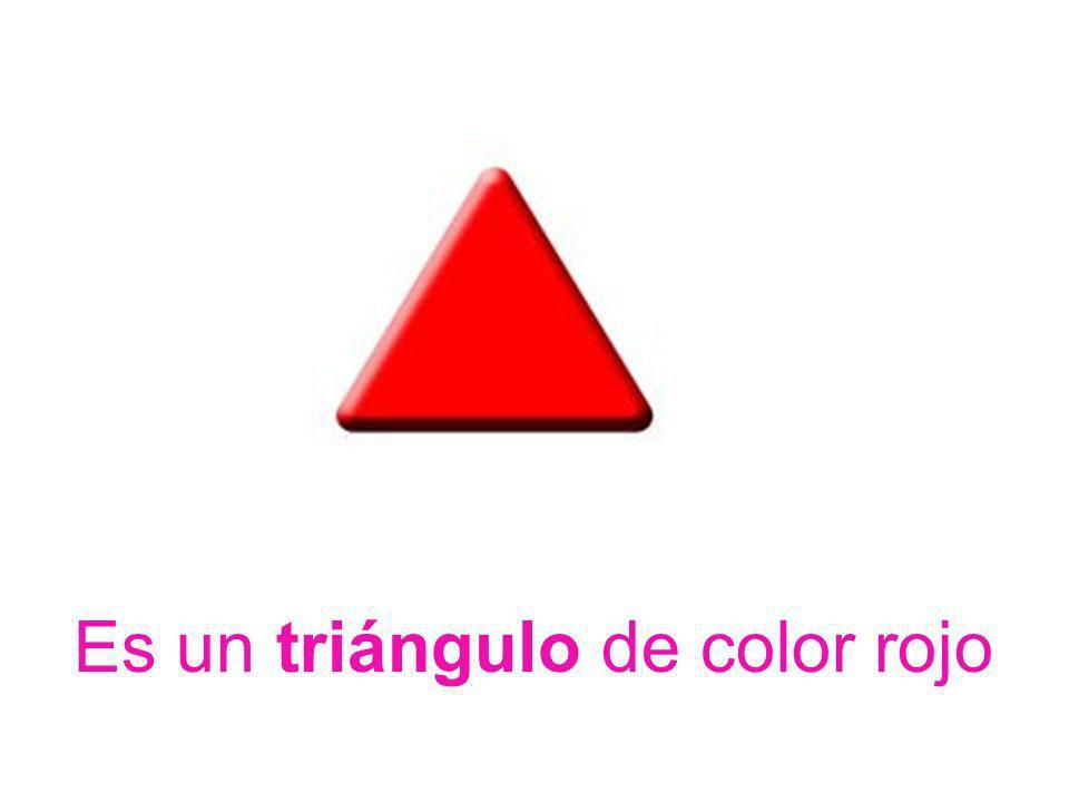 Es un triángulo de color rojo