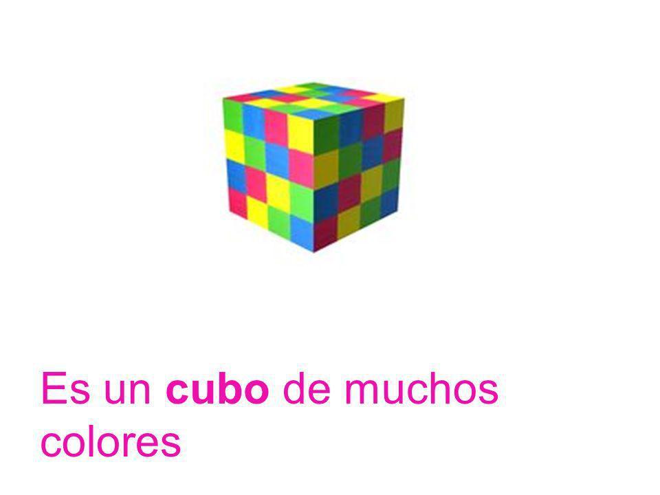 Es un cubo de muchos colores