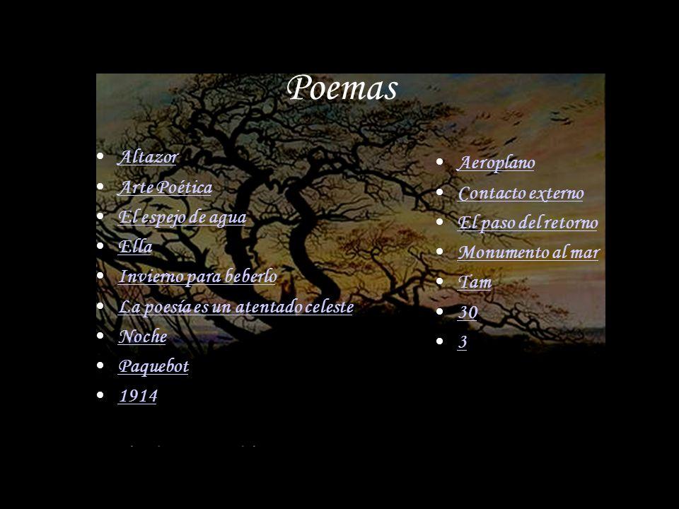 Poemas Altazor Aeroplano Arte Poética Contacto externo